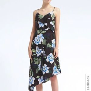 HP!! NWT Banana Republic Print Asymmetrical Dress